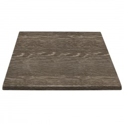 Bolero Pre-drilled Square Table Top Wenge Grain 600mm
