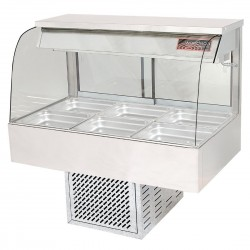 Woodson 3 Module Curved Cold Food Display