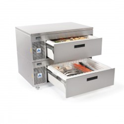 Adande Slimline Refrigeration With Side Engine Double Drawer