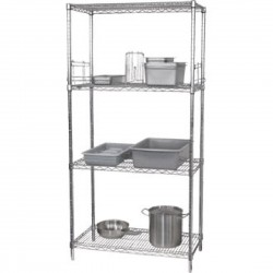 Vogue Wire Shelves Made of Chrome with ?lips 1220X457mm Pack of 2