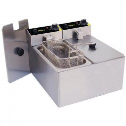 Apuro Double Pan Bench Top Fryer 2 x 3Ltr
