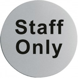 Stainless Steel Door Sign - Staff Only