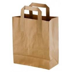 Recycled Brown Paper Carrier Bags Large (Pack of 250)