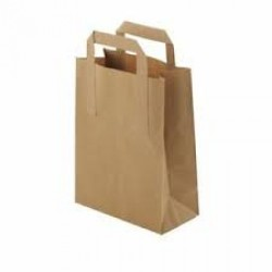 Recycled Brown Paper Carrier Bags Medium (Pack of 250)